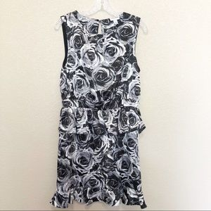 KATE YOUNG x Target Black White Rose Floral Dress